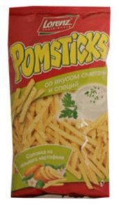Чипсы картофельные Pomsticks соломкой со сметаной и специями ТМ Lorenz (Лоренц)