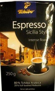 Кофе молотый Milano Stile espresso темнообжаренный Chibo Arabica 80%, ful-bodied 20% ТМ Tchibo (Чибо)