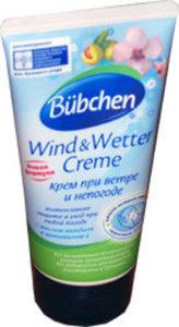 Крем защита кожи при ветре и непогоде Wind & Wetter Creme ТМ Bubchen (Бюбхен)