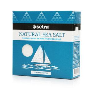Соль морская мелкая йодированная ТМ Setra (Сетра)