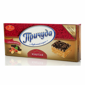 Торт вафельный Золотая с отборным арахисом ТМ Причуда