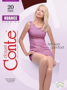 Колготки женские Nuance 20 Den Nero (чёрные) 4-L ТМ Conte (Конте)