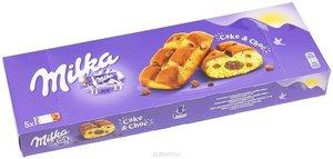 Пирожное бисквитное с шоколадной начинкой и кусочками молочного шоколада 5*35 ТМ Milka (Милка)
