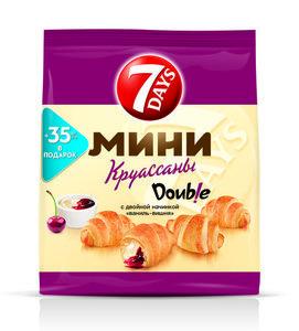 Мини круассаны c двойной начинкой ваниль-вишня ТМ 7Days (Севен Дейс)