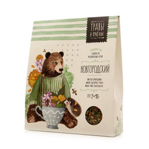 Чай травяной Новгородский ТМ Травы и пчелы, 2*40г