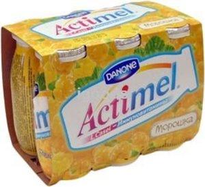 Actimel (Актимель) с морошкой и ежевикой 2,5% 6*100г ТМ Danon (Данон)