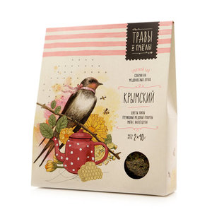 Чай травяной Крымский ТМ Травы и пчелы, 2*40г