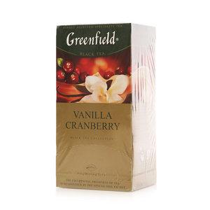 Чай черный с ароматами клюквы и ванили ТМ Greenfield (Гринфилд), 25*1,5г