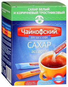 """Сахар порционный в стиках """"Ассорти"""" 60 шт. ТМ Чайкофский"""