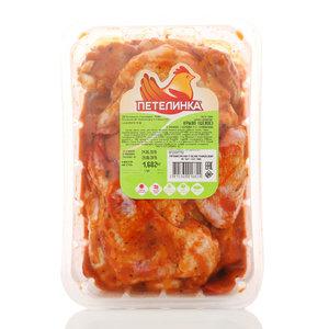 Курица Крыло цыпленка-бройлера в маринаде охлажденное ТМ Петелинка