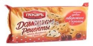 Печенье сдобное творожное с изюмом ТМ Пекарь