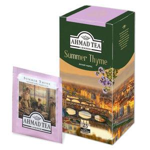 Чай черный байховый с чабрецом Summer thyme (Саммер тим) 25*1,5 ТМ  Ahmad Tea (Ахмад Ти)