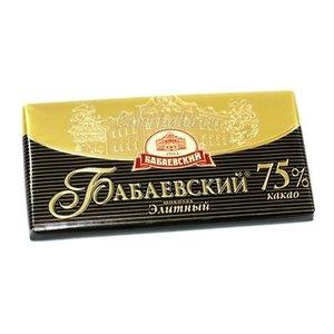 Шоколад Элитный 75% какао ТМ Бабаевский