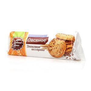 Печенье на фруктозе овсяное Злаковое Ассорти ТМ Хлебный Спас