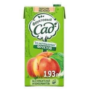 Нектар персиково-яблочный с мякотью для детского питания ТМ Фруктовый сад
