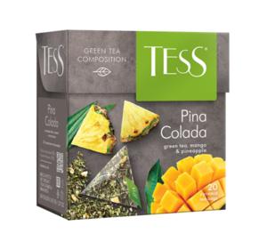 Чай зеленый Pina Colada (Пина Колада) в пирамидках 20*1,8г ТМ Tess (Тесс)