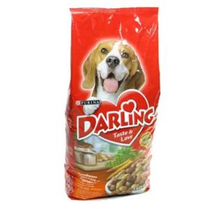 Корм сухой полнорационный для взрослых собак с курицей и с добавлением овощей ТМ Darling (Дарлинг)