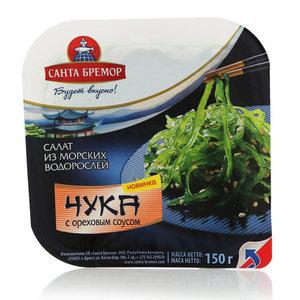 Салат из морских водорослей Чука с ореховым соусом ТМ Санта Бремор