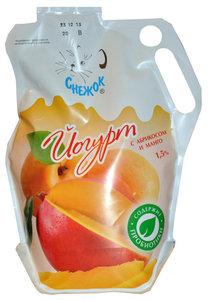 Йогурт питьевой с абрикосом и манго 1,5% ТМ Снежок