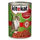 Корм для кошек Домашний обед кусочки говядины в соусе ТМ Kitekat (Китекат)