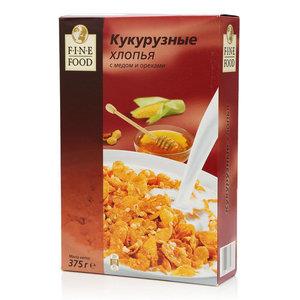 Хлопья кукурузные с медом и орехами ТМ Fine Food (Файн Фуд)