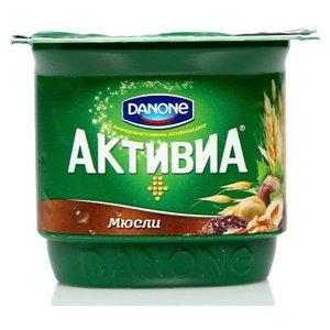 Йогурт (БиоЙогурт) с мюсли 2,9% TM Активиа, обогащенный бифидобактериями ActiRegularis