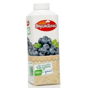 Йогурт питьевой с черникой ТМ Вкуснотеево