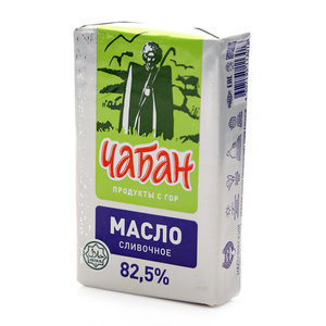 Масло сливочное 82,5% ТМ Чабан