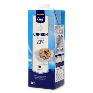 Сливки для соусов 23% ТМ Metro Chef (МЭТРО Шеф)
