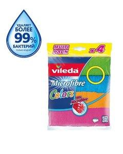 Салфетка Колорс из микрофибры 4 шт ТМ Vileda (Виледа)