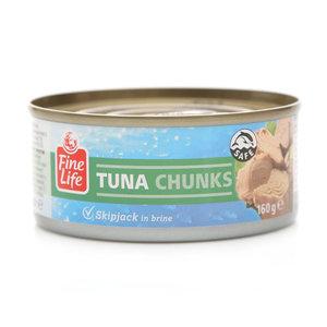 Полосатый тунец кусочки в рассоле ТМ Fine Life (Файн Лайф)
