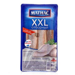 Филе сельди деликатесное отборное пряного посола XXL ТМ Матиас
