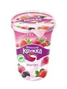 Йогурт десертный садовые ягоды 1,8% ТМ Большая Кружка