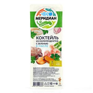 Коктейль из морепродуктов в масле с зеленью ТМ Меридиан