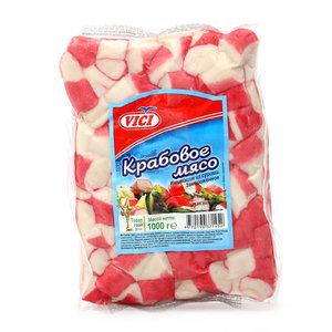 Крабовое мясо (имитация) замороженное ТМ Vici (Вичи)