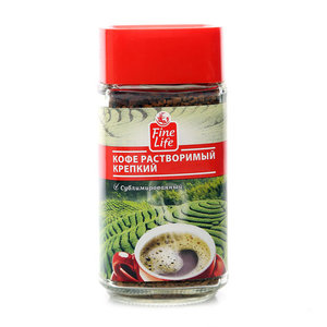 Кофе растворимый сублимированный Крепкий ТМ Fine life (Файн Лайф)