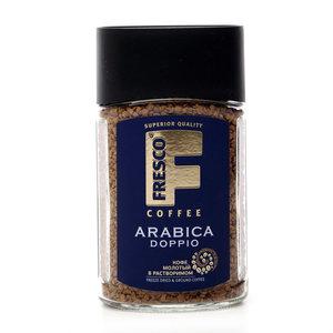 Кофе жареный в растворимом ТМ Fresco doppio (Фреско доппио)