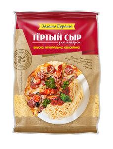 Сыр тёртый для макарон 45% ТМ Золото Европы