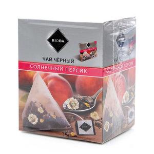 Чай черный Солнечный персик 20*2 гр ТМ Rioba (Риоба)