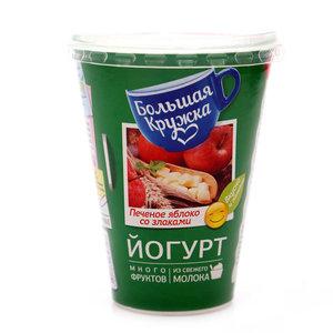 Йогурт с печеным яблоком, злаками и грецким орехом 1,8% ТМ Большая Кружка