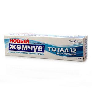 Зубная паста Тотал 12 Нежное отбеливание ТМ Новый Жемчуг