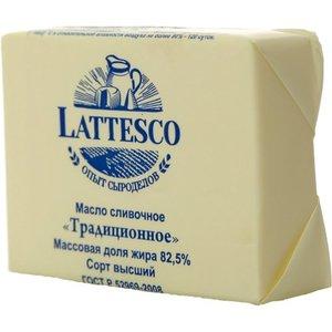Масло сливочное традиционное 82,5% в/с ТМ Lattesco (Латеско)