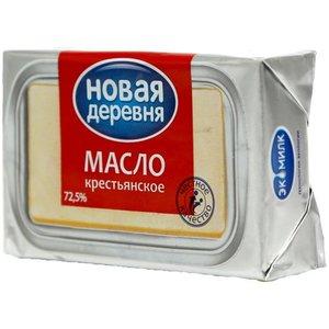 Масло сливочное Крестьянское 72,5% ТМ Новая деревня