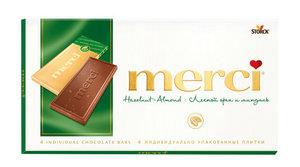 Шоколад Merci (Мерси) Лесной орех и миндаль ТМ Storck (Шторк)