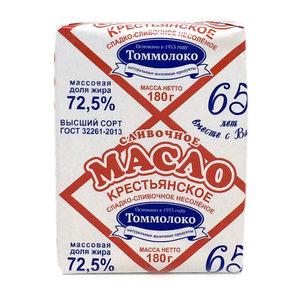 Масло сливочное крестьянское несоленое 72,5% ТМ Томмолоко