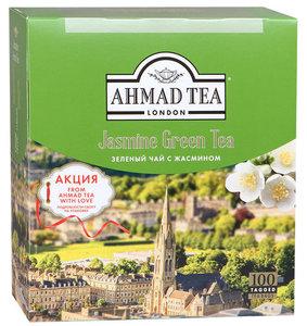 Чай зеленый байховый с жасмином в пакетиках 100*2г ТМ Ahmad Tea (Ахмад Тиа)