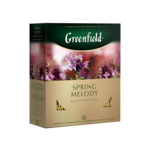 Чай черный  Spring Melody  (Спринг Мелоди) в пакетиках 100*1,5г ТМ Greenfield (Гринфилд)